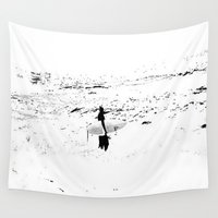 surfer Wall Tapestries featuring Surfer  by Nilka Elis