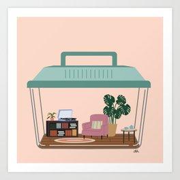 hermit habitat Art Print