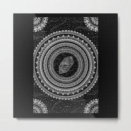 Gravitation Mandala Metal Print