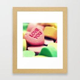 Love You Framed Art Print