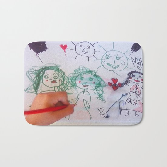 Me and my friends | Kids Drawing Bath Mat