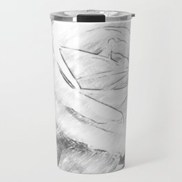 Pink Roses in Anzures 2 Charcoal Travel Mug