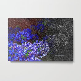 """Night Flowers #56"" Metal Print"