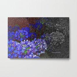"""""""Night Flowers #56"""" Metal Print"""