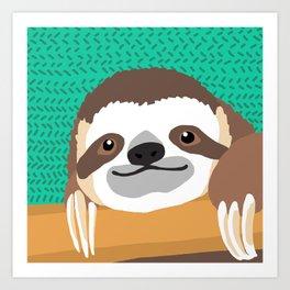 Brad Sloth Art Print