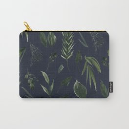 Winter Leaf Pattern 2 (Navy) Carry-All Pouch