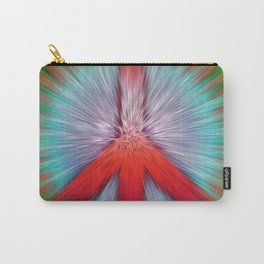 Starburst Peace Sign Carry-All Pouch