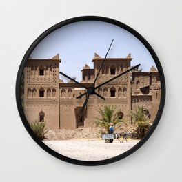 Kasbah in Morocco Wall Clock