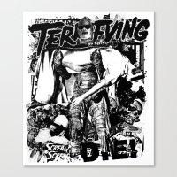 horror Canvas Prints featuring Horror by HEADBANGPARTY