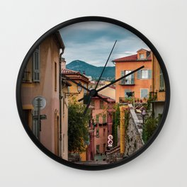 Vieux Nice on a Cloudy Day Wall Clock
