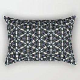 Black Abstract Rectangular Pillow