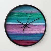 the strokes Wall Clocks featuring Different Strokes by Steven Womack