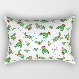 Holiday Sea Turtles Rectangular Pillow
