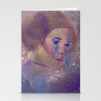 princess leia Stationery Cards featuring Princess Leia  by Mara Valladares