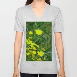 Buttercups Bright Yellow Unisex V-Neck