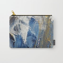 Gold Blue Abstract Carry-All Pouch