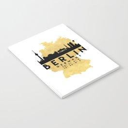 BERLIN GERMANY SILHOUETTE SKYLINE MAP ART Notebook