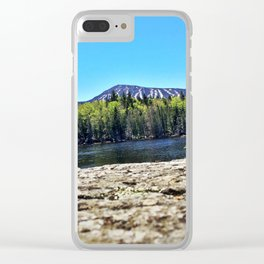 Springtime View of Sugarloaf (3) Clear iPhone Case