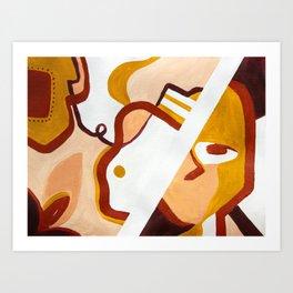 face talk Art Print