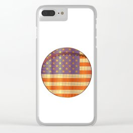 Tennis Stars And Stripes Clear iPhone Case