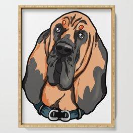 Bloodhound Bluthund St. Hubertushund Dog Puppy Serving Tray