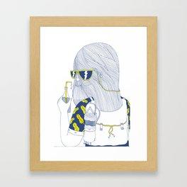 Summer Monster Framed Art Print