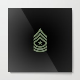 Sergeant Major (Green) Metal Print