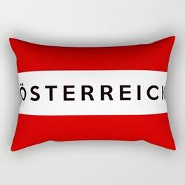 austria country flag osterreich german name text Rectangular Pillow