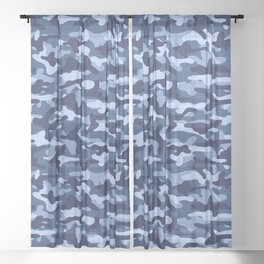 Water Camouflage Sheer Curtain