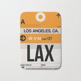 LAX Los Angeles Luggage Tag 2 Bath Mat