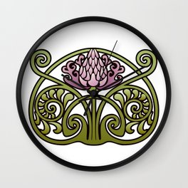 Nouveau Thistle Wall Clock