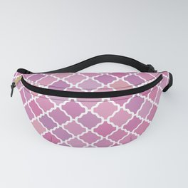 Pink Purple Moroccan Pattern Fanny Pack