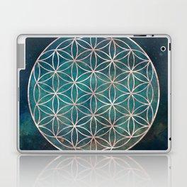 Mandala Flower of Life Rose Gold Space Stars Laptop & iPad Skin
