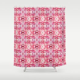Summer Vibes Tie Dye in Red Peppermint Shower Curtain