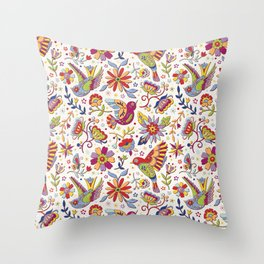 Otomi folk Throw Pillow