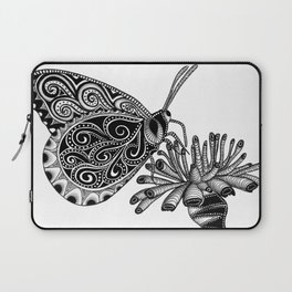 Tangled Butterfly on White Laptop Sleeve