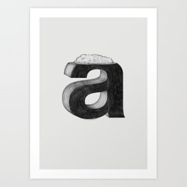 Dissecting Typefaces - a  Art Print