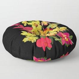Orchids - Hot Colors! Floor Pillow