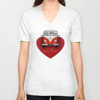 van V-neck T-shirts featuring Van Love by RubyRed