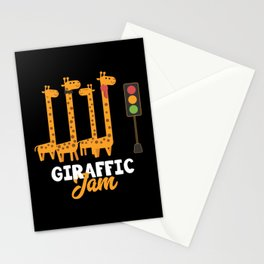 Giraffe Cartoon Funny Animals Gift Stationery Cards