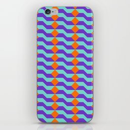 Tricolor Steps Orange Purple & Teal iPhone Skin
