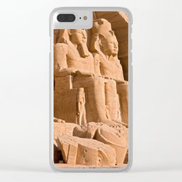 Great Temple of Abu Simbel Clear iPhone Case