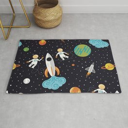 A Walk in Space Rug