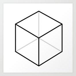 D6, White Art Print