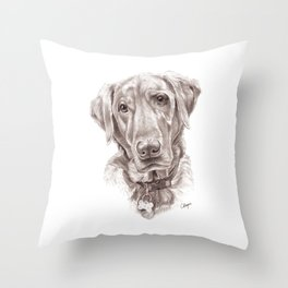 Labrador Retreiver Throw Pillow