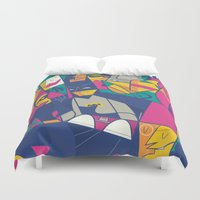ale giorgini Duvet Covers featuring 1966 by Ale Giorgini