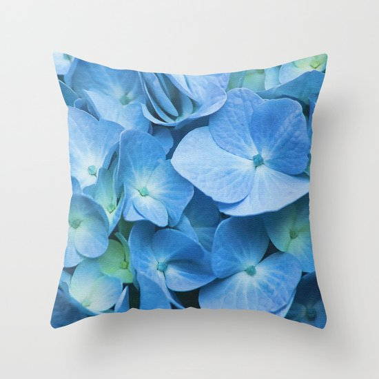 Blue Hydrangea Throw Pillow : Blue Hydrangea Throw Pillow by Irina Chuckowree Society6