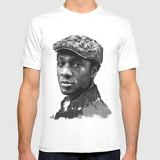 Aloe Blacc Mens Fitted Tee MEDIUM White