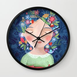 There are women that dreams with red cats Wall Clock