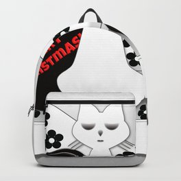 Black and White Cats on Sofa Christmas Backpack
